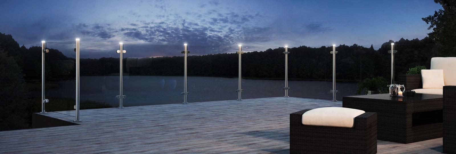 Räcken med LED belysning Inoxa
